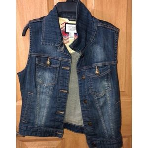 Jean Jacket Vest! Used twice!